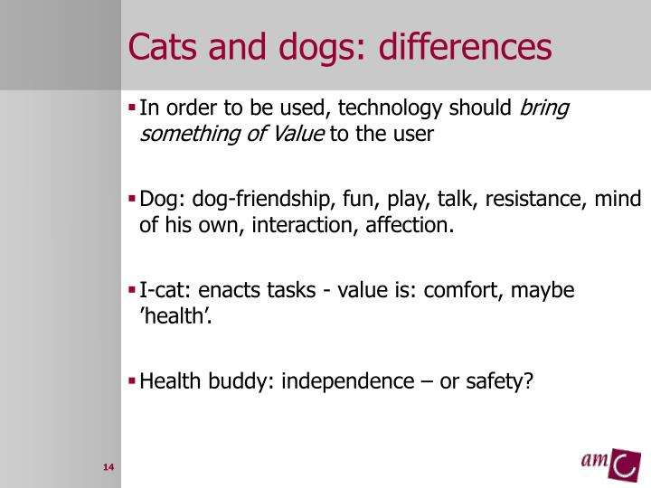Cats and dogs: differences