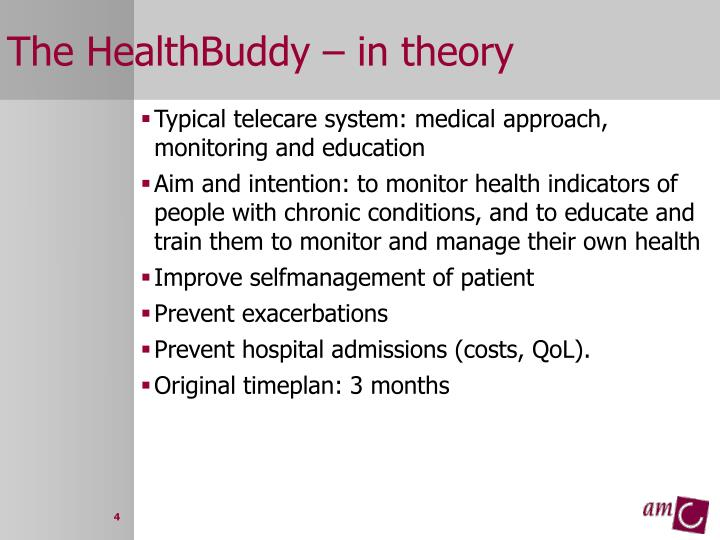 The HealthBuddy – in theory