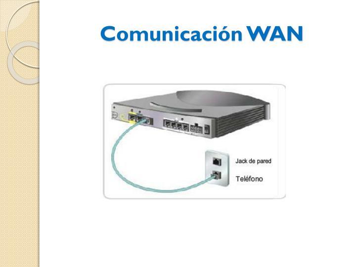 Comunicación WAN