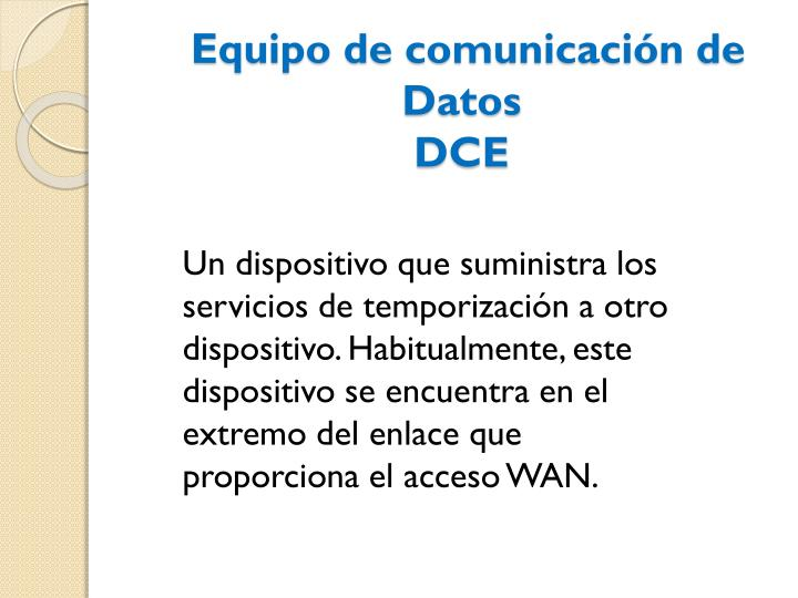 Equipo de comunicación de Datos