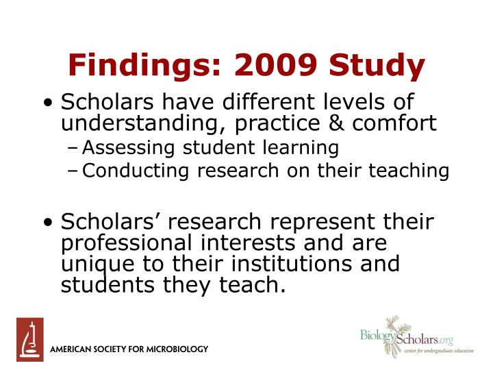 Findings: 2009 Study