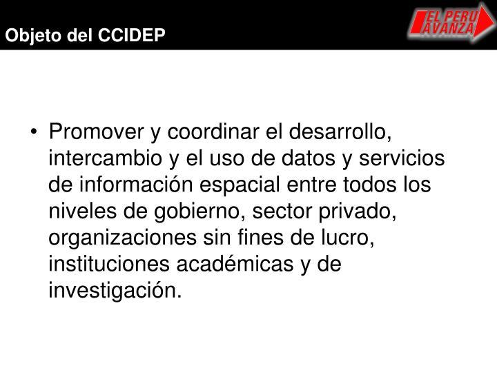 Objeto del CCIDEP