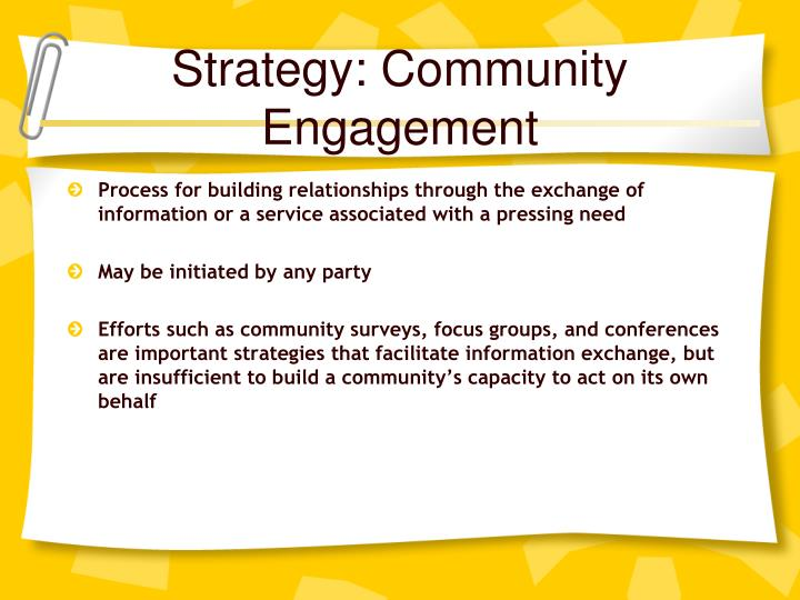 Strategy: Community Engagement
