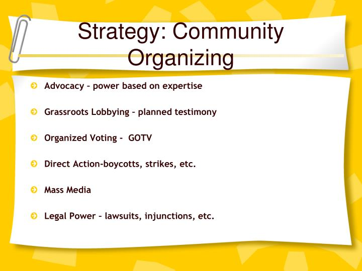 Strategy: Community Organizing