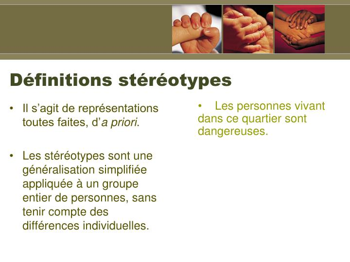 Dfinitions strotypes