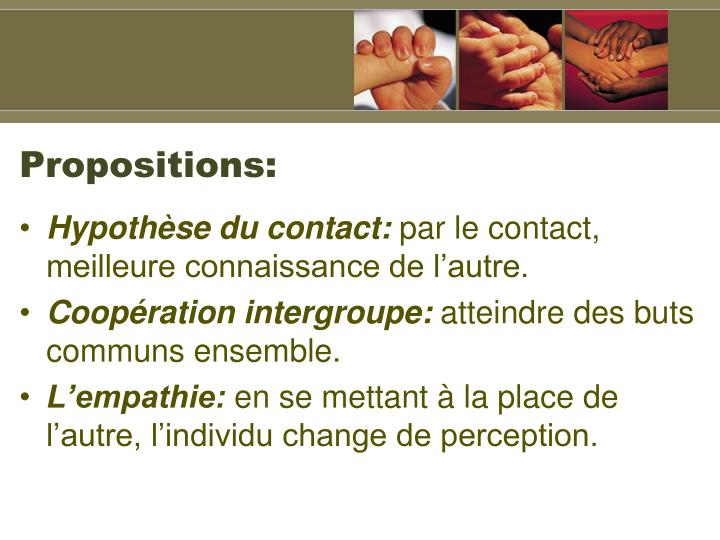 Propositions: