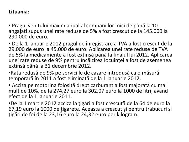 Lituania: