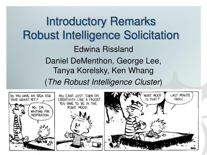 Introductory remarks robust intelligence solicitation