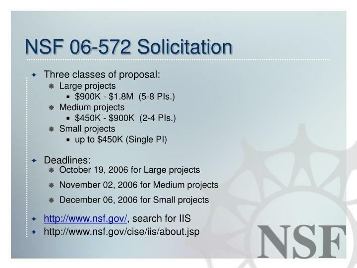 NSF 06-572 Solicitation