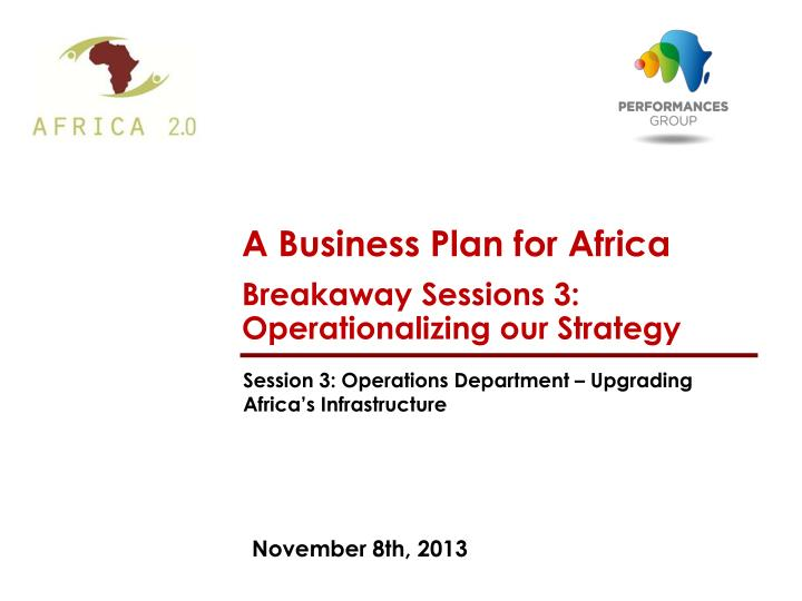 A Business Plan for Africa
