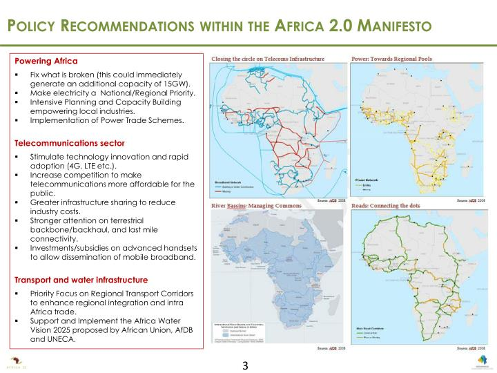 Policy Recommendations within the Africa 2.0 Manifesto