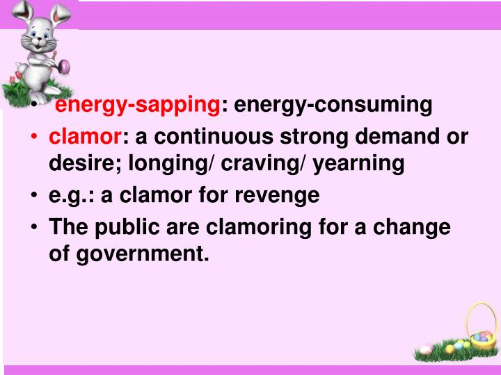 energy-sapping