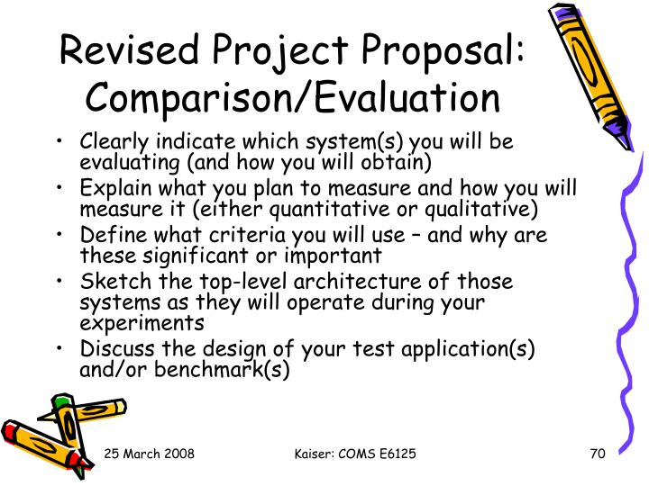 Revised Project Proposal: Comparison/Evaluation