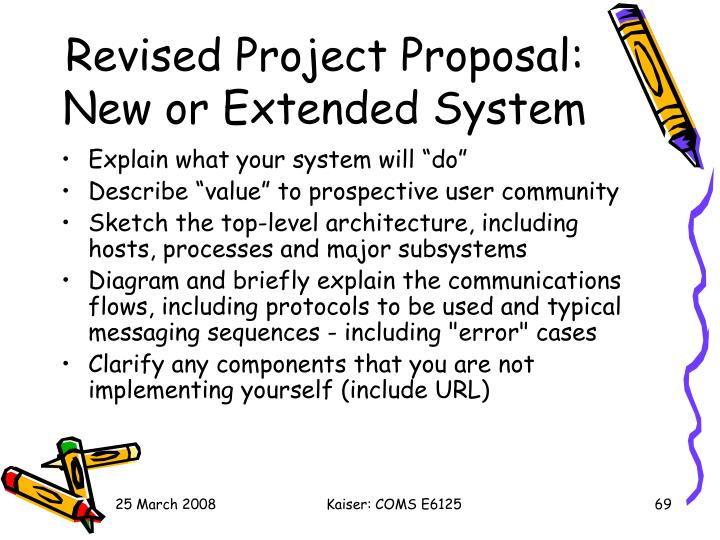 Revised Project Proposal: New or Extended System