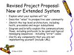 revised project proposal new or extended system