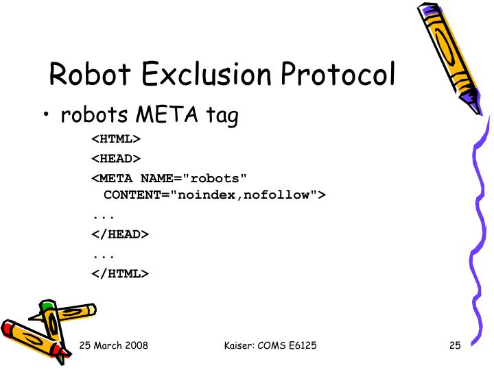 Robot Exclusion Protocol