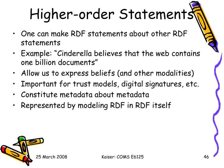 Higher-order Statements