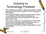 solution to terminology problems