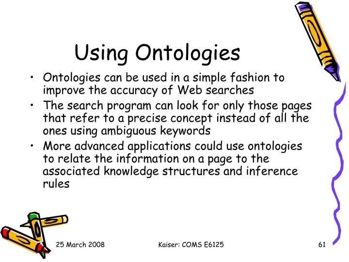 Using Ontologies