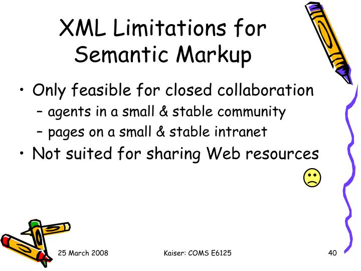XML Limitations for Semantic Markup