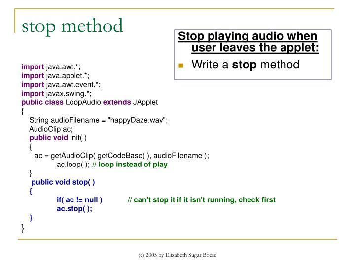 stop method