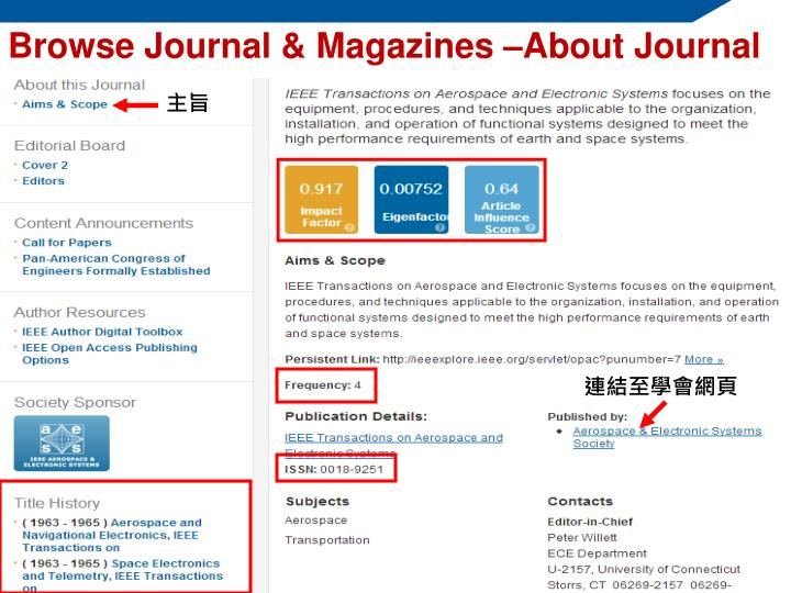 Browse Journal & Magazines –