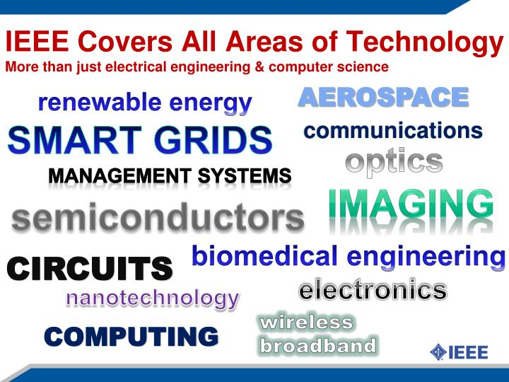 IEEE Covers All Areas of Technology