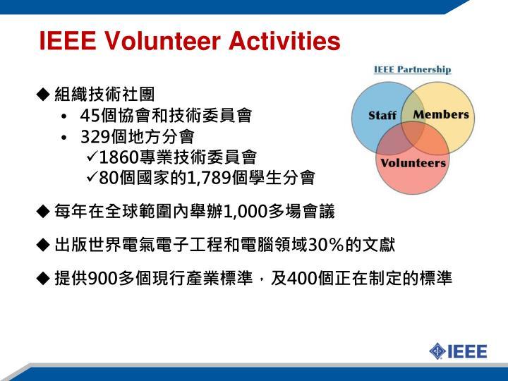 IEEE Volunteer Activities