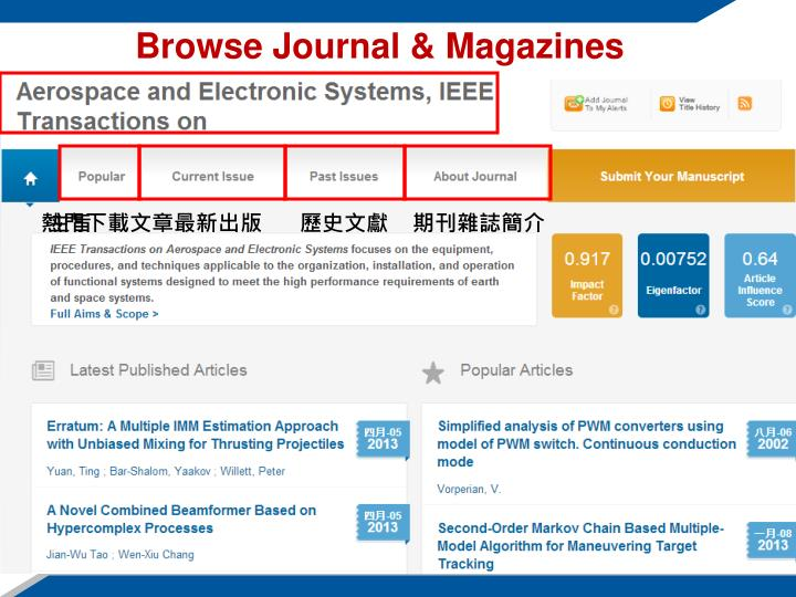 Browse Journal & Magazines