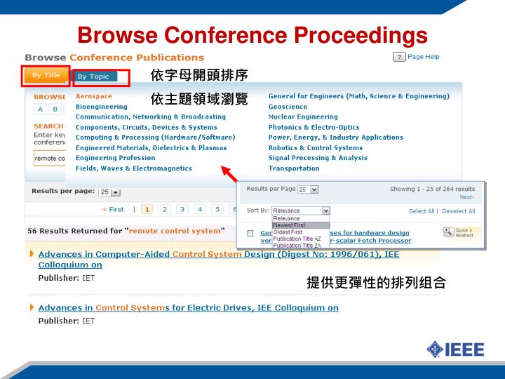 Browse Conference Proceedings