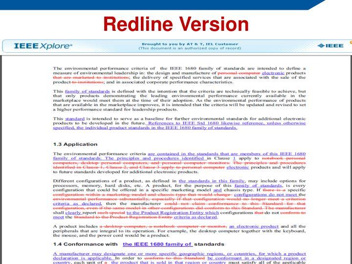 Redline Version