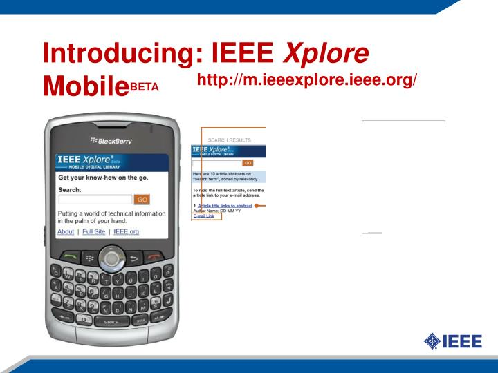 Introducing: IEEE