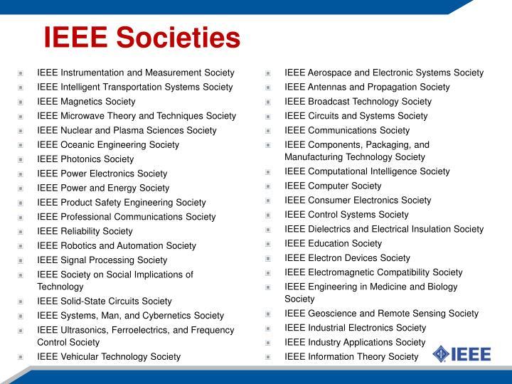 IEEE Societies
