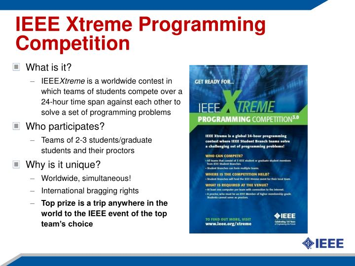 IEEE Xtreme Programming Competition