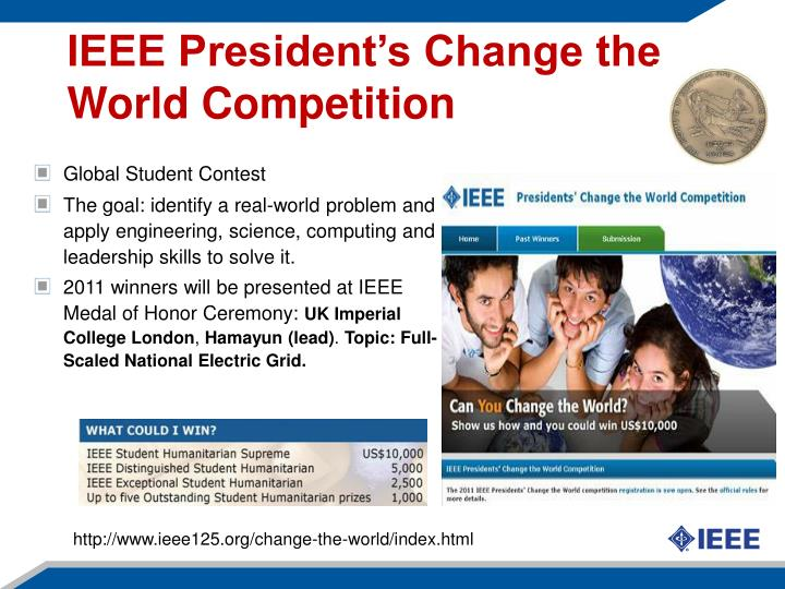 IEEE President's Change the World Competition