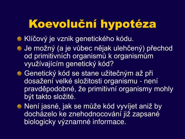 Koevoluční hypotéza