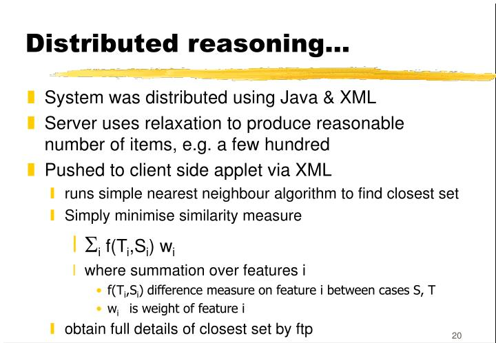 Distributed reasoning...