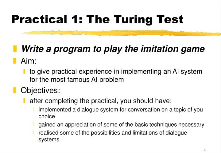 Practical 1: The Turing Test