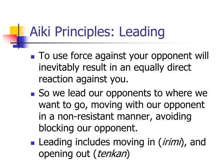 Aiki Principles: Leading