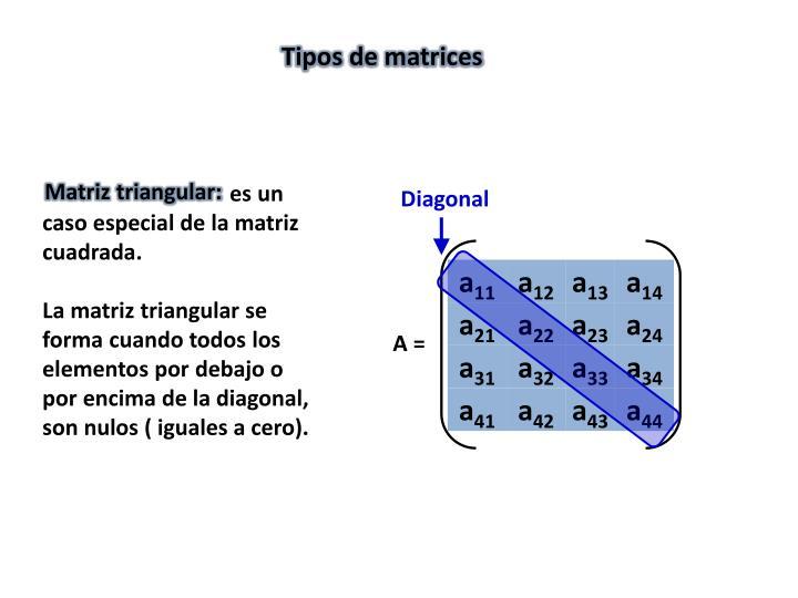 Matriz triangular: