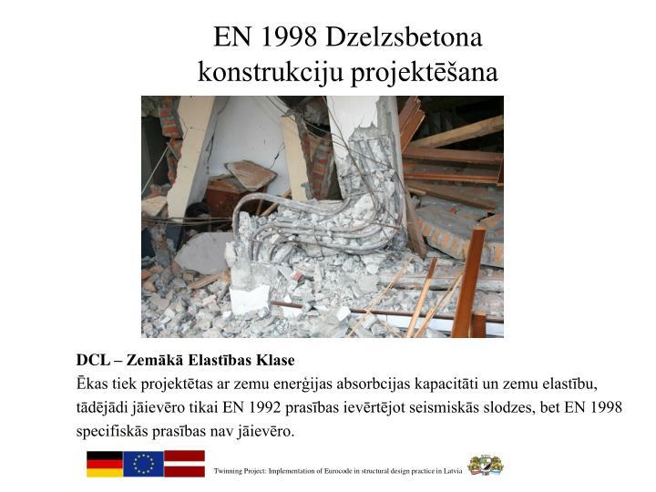 EN 1998 Dzelzsbetona