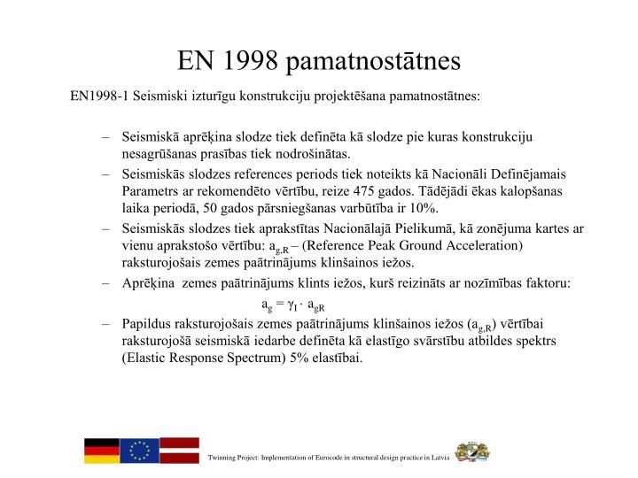 EN 1998 pamatnostātnes