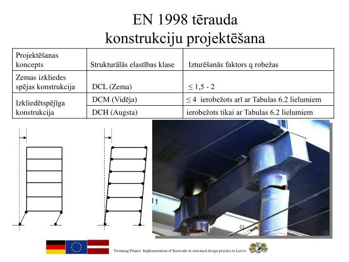 EN 1998 tērauda