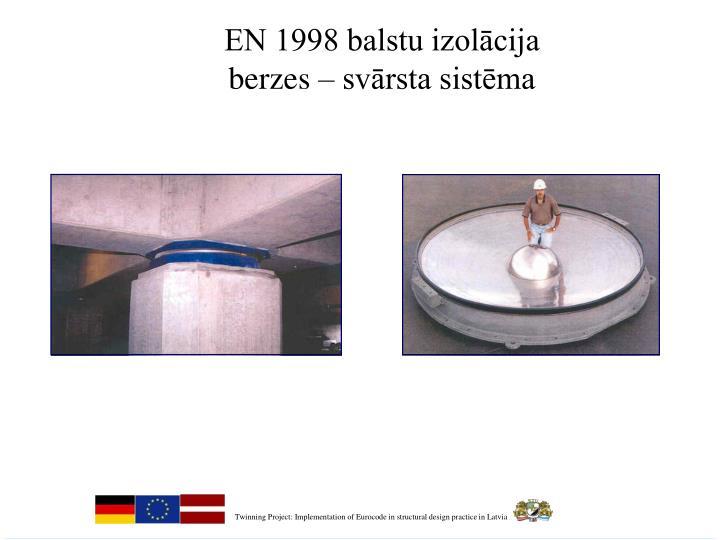 EN 1998 balstu izolācija