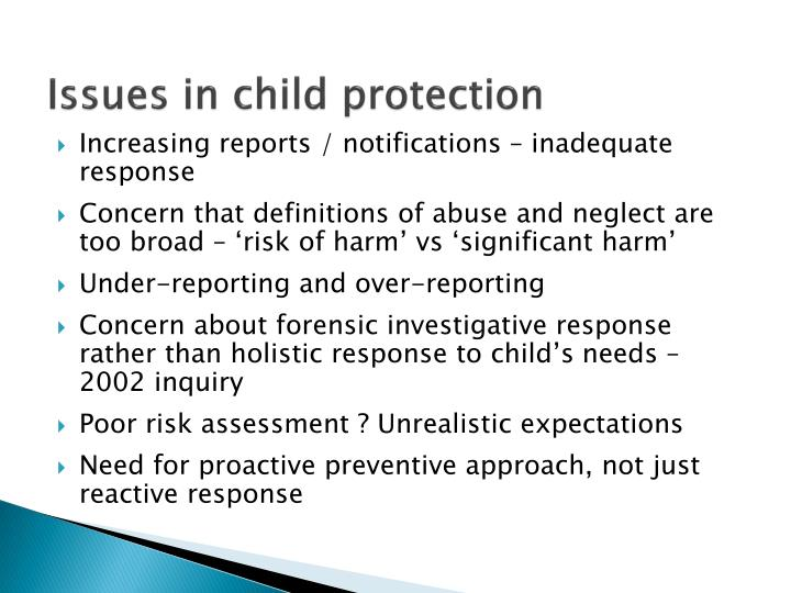 Issues in child protection