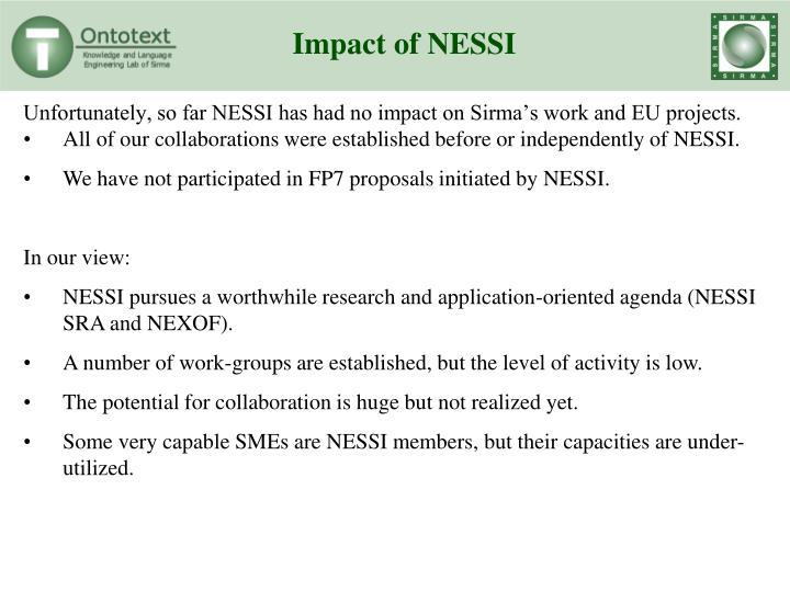 Impact of NESSI