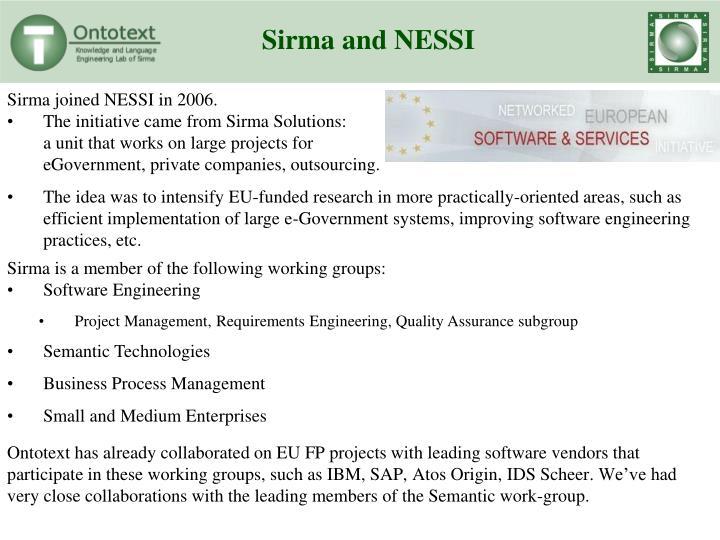 Sirma and NESSI