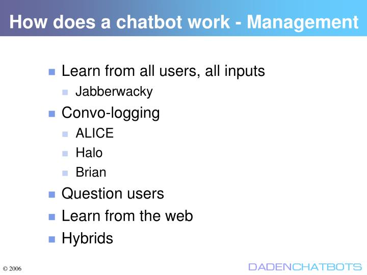 How does a chatbot work - Management