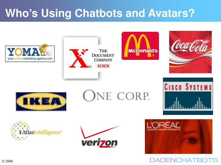 Who's Using Chatbots and Avatars?