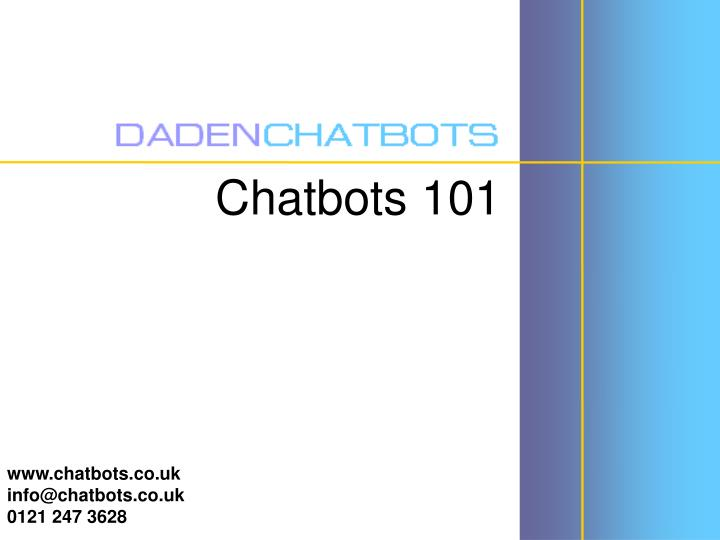 Chatbots 101